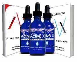 Active8 X diet drops with activ X diet plan